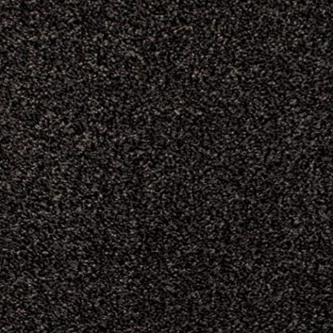 Anthracite Grey Black Action Backing Saxony Carpet - 4m Wide, 5m Long