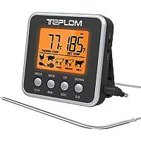 Teplom Thermomètre de Cuisson,Thermomètres de Cuisine Thermomètre Numérique Digital avec Sonde Longue et Grand Écran LCD…