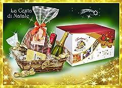 Idea Regalo - Idea Regalo di Natale - Cesto di Natale Artigianale - Cesto Natalizio - Cesti Natalizi - Cesta di Natale con Panettone o Pandoro TREMARIE