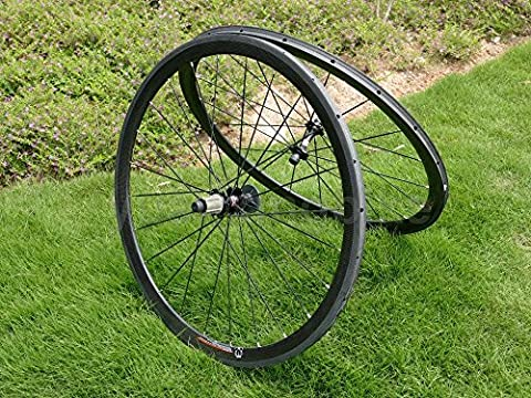 Full Carbon 3K Matt Rennrad Tubular Felge 38mm Basalt Bremse Seite Breite 23mm Toray Carbon Laufradsatz für Shimano 8/9/10/11s