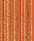 Raumausstatter.de Möbelstoff Indus 3135 Streifen Orange