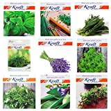 #5: Kraft Seeds Herb Garden Seeds Collection - Basil, Chives, Cilantro, Dill, Lavender, Oregano, Parsley, Sage & Thyme; Non GMO Heirloom Seeds