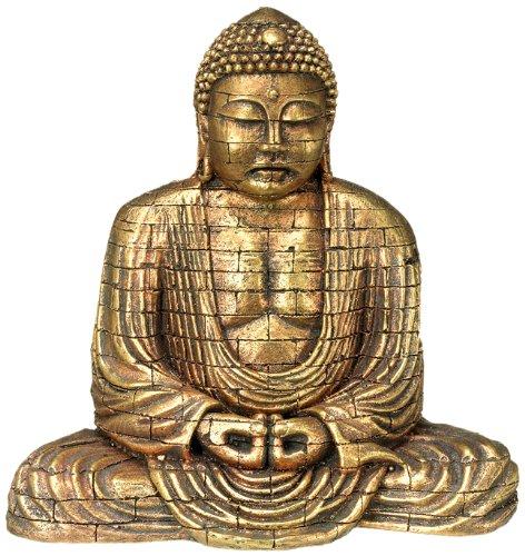 Nobby 28392 Aqua Ornaments Buddha gold, 15.5 x B9.6 x 15.4 cm