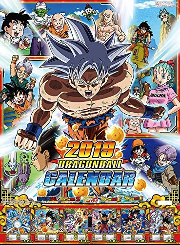 Ensky Dragon Ball Super Calendar 2019 Try-X Wall Calendar Calendario de Pared Oficial Japón Anime 2019