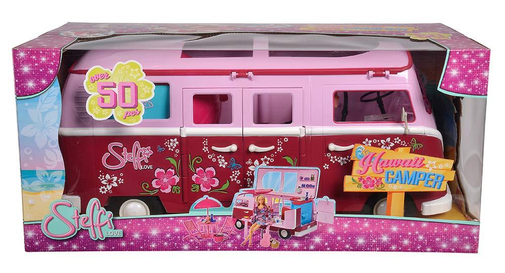 Simba 105739423 Steffi Love Flower Power Bus – Autocaravana con accesorios y muñeca [Importado de Alemania]