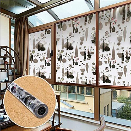 KUNHAN Fensterfolie Sichtschutzfolie 60 * 200cm Privacy Window Film Fensterfolienkleber Glasmalerei An (Glasmalerei-film Für Windows)
