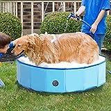 Jolitac Faltbarer Hundepool Swimmingpool Hunde Katze Doggy Pet Pool Haustierpool Badewanne...