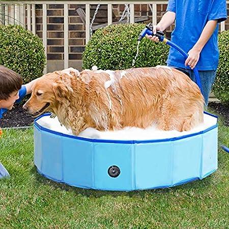 Jolitac Faltbarer Hundepool Swimmingpool Hunde Katze Doggy Pet Pool Haustierpool Badewanne Schwimmbecken Haustier…