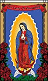 AZ FLAG Drapeau Notre Dame de Guadeloupe Rose 150x90cm Oeillets Haute qualité