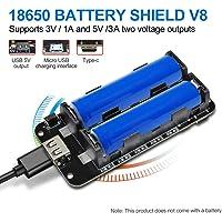 diymore 18650 Blindage de Batterie V8 3V 5V Port USB Micro Type-C USB avec Câble pour Raspberry Pi Arduino ESP32 ESP8266 WiFi
