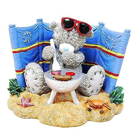 Me To You Tatty Teddy Figurine Decoration Gift Idea Tatty BBQ On Beach