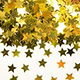 Goldenes Konfetti mit Sternen // 1 Tüte mit 15g // Deko Tischdeko Jubiläum Zahlenkonfetti Gold Goldene Hochzeit Sternenkonfetti