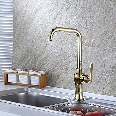 Tougmoo Antike Küche Heißen Und Kalten Wasserhahn Einlochmontage Toilette Wasserhahn Warmes Und Kaltes Lokale Champagner-Gold Küche Mischung