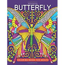 Butterfly Coloring Book: for Adults Fun, Beautiful butterfly and flower and Stress Relieving Unique Design