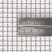 Tamaño de Agujero de 5.2mm - Acero Inoxidable 316L - Tamaño de Corte: 15cm x 15cm - 4 Recuento de Malla (Alambres de 1.2 mm) - Malla de Alambre Tejido