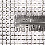 mit Drahtgeflecht-inoxia–4(1.2mm mit Edelstahl (316L), 1–2mm Blende–Größe: 30cmx30cm