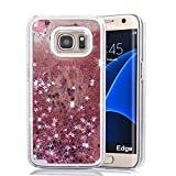 Best Phone Cases For Samsung Galaxy S6 Edges - Xelcoy® Bling Sparkle Glitter Stars Dynamic Liquid Quicks Review