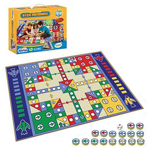 Kinder Schach Brettspiele Familienspiele Kinder Schach Spielzeug entwickeln Gehirn, Einseitige 155x98 Boxed Fly Checkers Decke