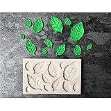 HENGSONG 3D Blätter Thema Mould Silikon Form Kuchenform DIY Fondant Süßigkeiten Schokolade Form Backen Formen Dekorieren (Weiß)