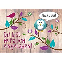 12 Er Kartenset (10 + 2 Gratis Karten) Mit Niedlichem, Lustigem