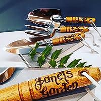 Personalised garden tools retirement birthday gift leaving present Grandad nanny grandma aunty uncle mum dad Customised (GT01)