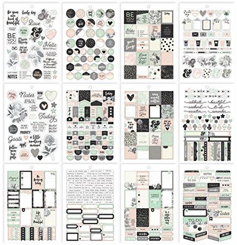 Simple Stories Carpe Diem Schöne Sticker, Papier, mehrfarbig, 20,9x 14x 0,4cm