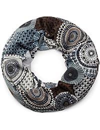 styleBREAKER snood rond tricoté avec imprimés de style ethnique africain,  écharpe, femme 01017042, 9aa3b6b4fee