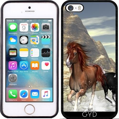 Coque pour Iphone SE - Chevaux Impressionnants by nicky2342 Silicone