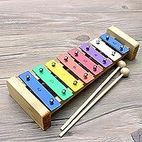 Xilófono para Niños, Foonee Colorful Hand Knock 8 Tonos Xilófono Sonido Crujiente Educación Temprana Juguetes Musicales, Juguetes de Desarrollo para Bebés o Niños