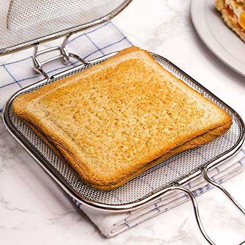 Astra Gourmet Edelstahl-Kühlschrank/Backrost - ofenfeste Draht-Racks für schnelle Sandwiches - kleines Gitter, perfekt zum Kühlen und Backen (16 x 16,5 cm) -