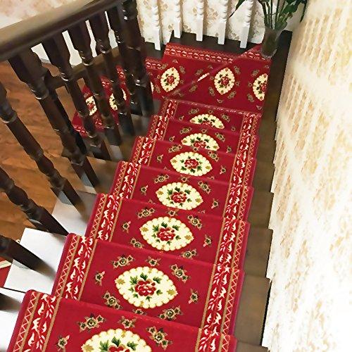 Rziioo Rechteck-Treppen-Schritt-Matten Mehrfache Größen-Wahlen Vorhanden Selbstklebender Rutschfester Teppich-Treppen-Wollkissen-Auflage,65 * 24 * 3Cm,10Pcs -
