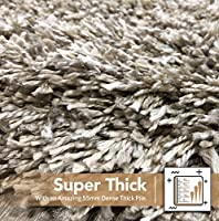 Shaggy Rug Soft Touch Thick Quality Dense 55mm Pile Home Floor Shaggy Shag Pile from Modern Style Rugs