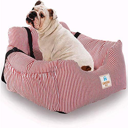 Pet Car Booster Seat robuste wasserdichte Auto Hundehütte Protector Pet Travel Carrier Bag mit Sicherheitsleine Store Inhalt Tasche für alle Autos,Rosa -