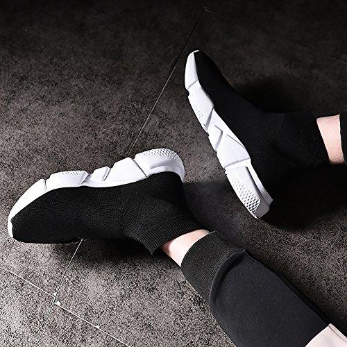 Unisex Leichte Breathable Beiläufige Sport Slip on Jogging Schuhe Mode Turnschuhe Wanderschuhe Laufende Gemütliche Trainer Schwarz