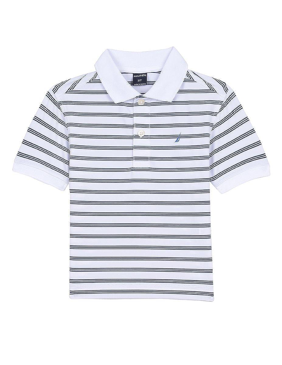 Nautica boys Short Sleeve Stripe Poly Polo Short Sleeve Polo Shirt:  Amazon.co.uk: Clothing