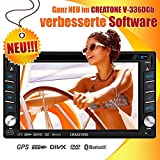 2DIN Autoradio CREATONE V-336DGb mit GPS Navigation (Europa), Bluetooth, Touchscreen, DVD-Player und USB/SD-Funktion