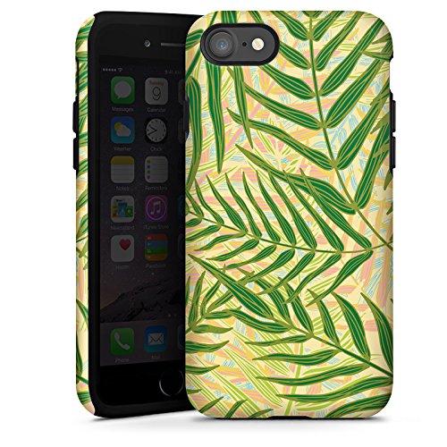 Apple iPhone X Silikon Hülle Case Schutzhülle Tropische dschungel Blätter Tough Case glänzend