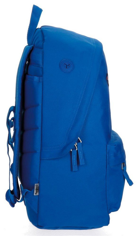 61l9NPu10ZL - Pepe Jeans 6682359 Harlow Mochila Escolar, 42 cm, 22.79 litros, Azul