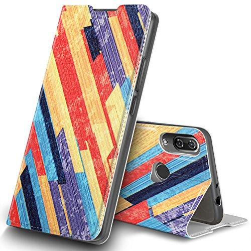 GeeMai Wiko View 2 Hülle, Premium Flip Case Tasche Cover Hüllen mit Magnetverschluss [Standfunktion] Schutzhülle Handyhülle für Wiko View 2 Smartphone, CH28