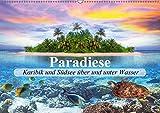 Paradiese. Karibik und Südsee über und unter Wasser (Wandkalender 2018 DIN A2 quer): Ein Ausflug zu traumhaften Orten unter und über dem Wasser ... [Kalender] [Apr 05, 2017] Stanzer, Elisabeth - Elisabeth Stanzer