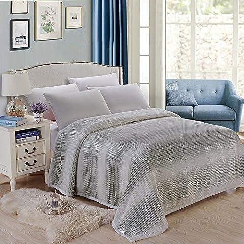 LY&HYL Doble mantas cama manta peluche cálido Sheets200cm * 230cm , royal green