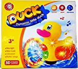 #5: Dynamic Little 3D Duck Toy with Music Flashing Lights for Kids, Multicolor, Bump and Go Action, Flutter Wings for Your Baby