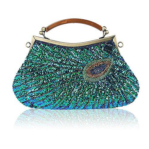 8ea849736d224 LLXY Damen Fashion handgefertigt Vintage Perlen Abend Tasche klein  Kupplung
