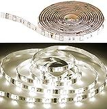 Luminea Zubehör zu Lichtband-Sets: LED-Streifen LAM-206, 2 m, 600 Lumen, warmweiß, dimmbar, IP44 (Leuchtband)