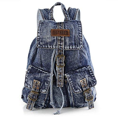 Imagen de nuevo estilo denim  bolso vaquero bolsa de viaje moda para mujer de color azul alternativa