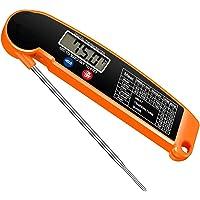 Thermometre de Cuisine,Sonde Pliable pour Cuisson,Sonde Temperature Cuisine avec Écran LED RétroÉclairage,pour Aliments…