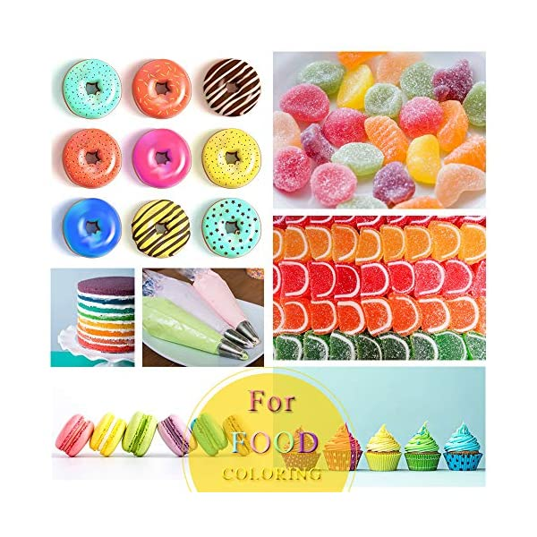 Food Colouring Food dye Flo Concentrated Liquid Food Air Brush - 10 Colours (6ml) 3