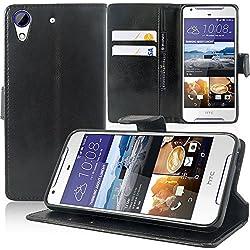 HTC Desire 628/ 628 dual sim Étui HCN PHONE® Housse Portefeuille Etui Clapet Folio Livre Rabat Support Intégré pour HTC Desire 628/ 628 dual sim - NOIR