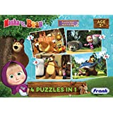 Frank Masha And The Bear 4 In 1 Puzzle For 3 Year Old Kids And Above
