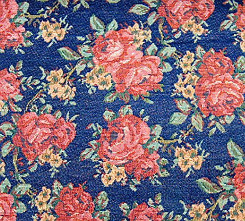 Gobelin Stoff 'Chic Rose' METERWARE Breite 150 cm Rose Blumen Gardinenstoff Dekostoff Jacquard Stoff...